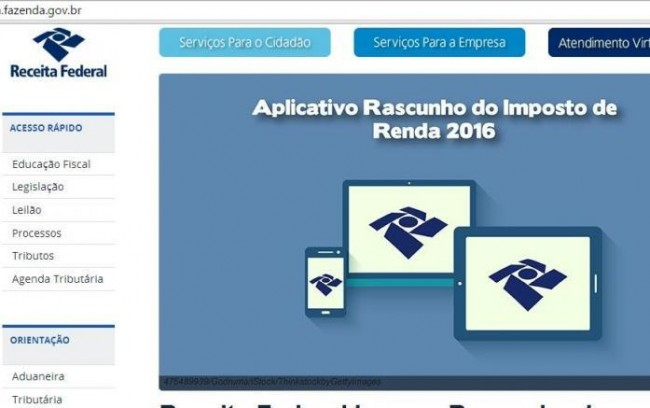 Rascunho Do Imposto De Renda 2016